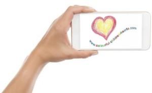 Selfie für einen guten Zweck, colourful children hearts,